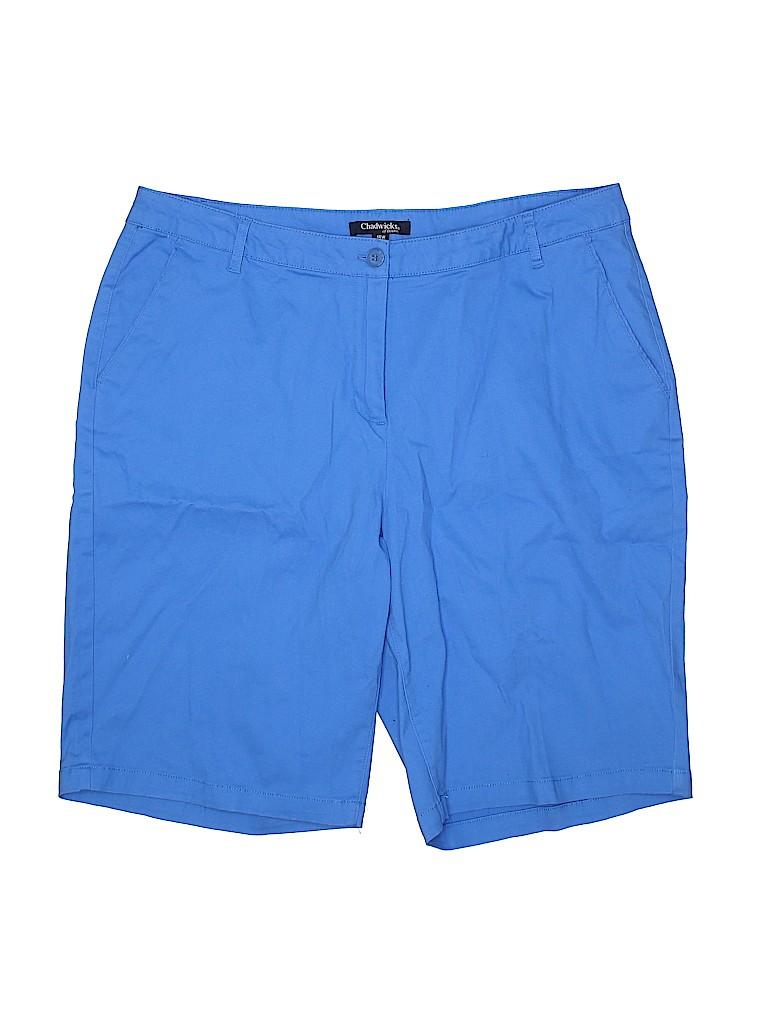 Chadwicks Women Khaki Shorts Size 18 (Plus)