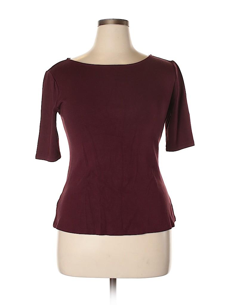 Ann Taylor Women Short Sleeve Top Size L