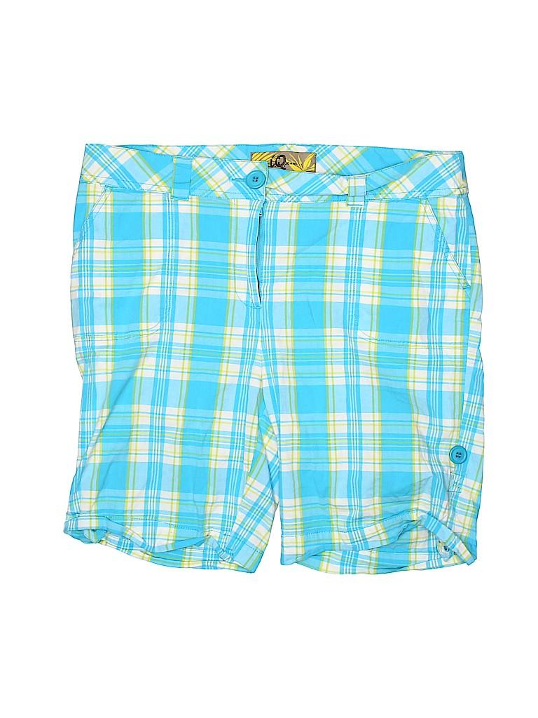 I.Q. Jeans Women Khaki Shorts Size 16