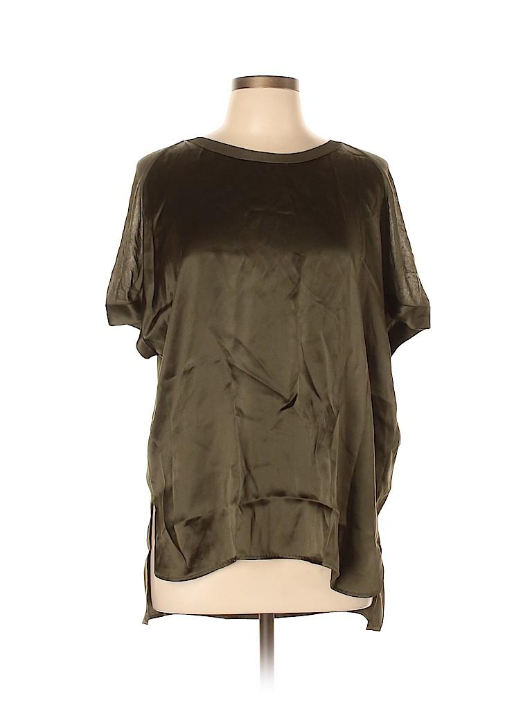 Vince. Women Short Sleeve Silk Top Size XL