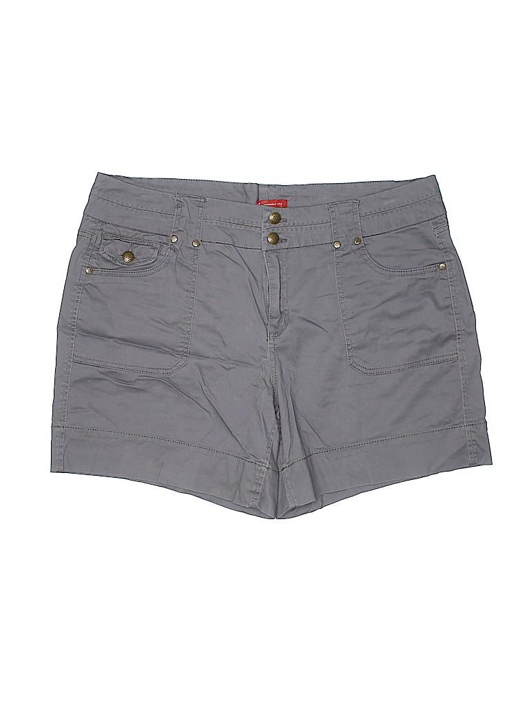 DressBarn Women Khaki Shorts Size 18 (Plus)