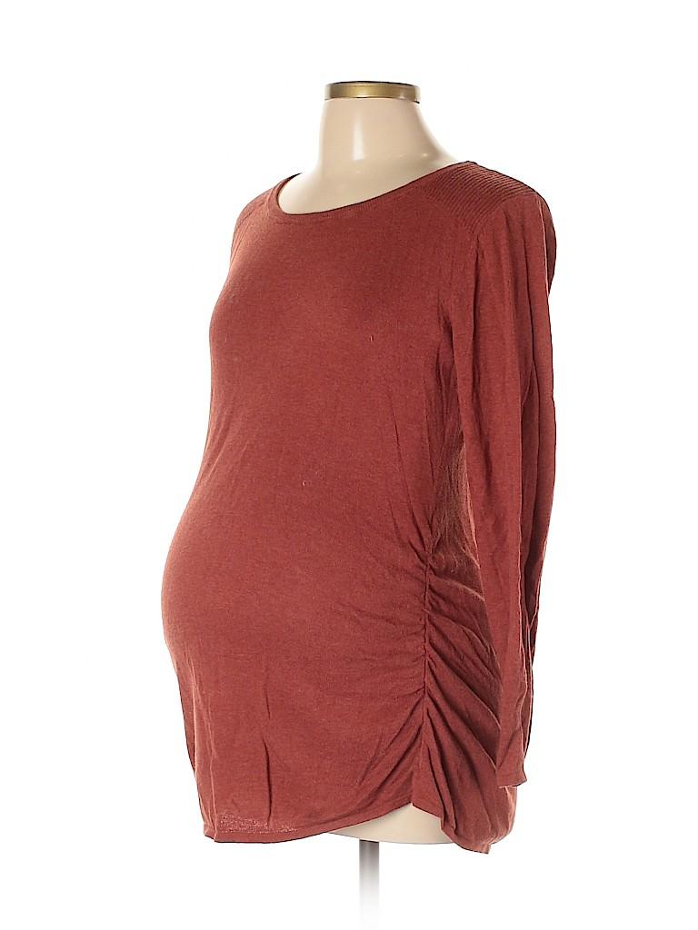 Motherhood Women Long Sleeve Top Size L (Maternity)