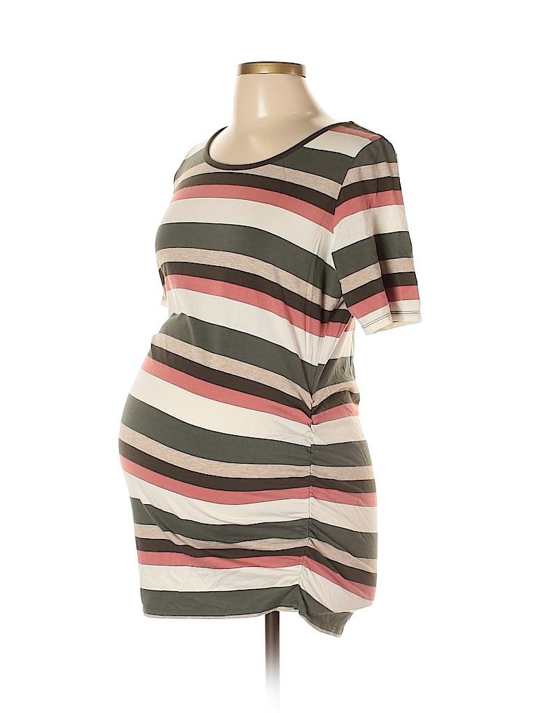 Motherhood Women Short Sleeve Top Size L (Maternity)