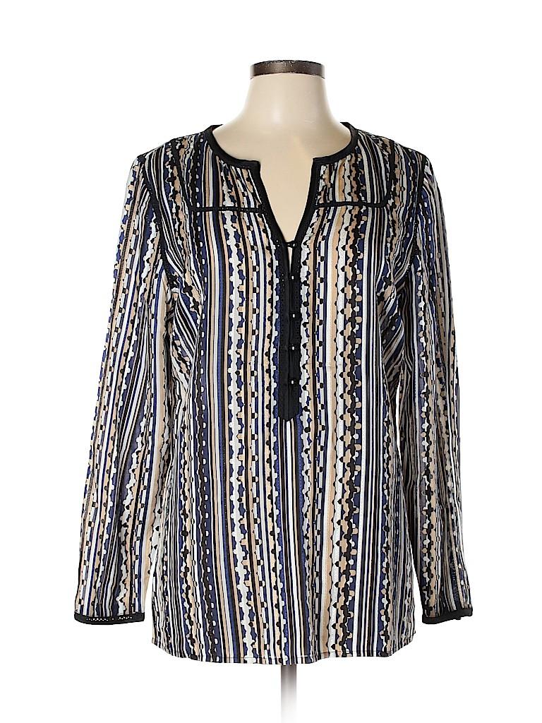 Etcetera Women Long Sleeve Silk Top Size 10