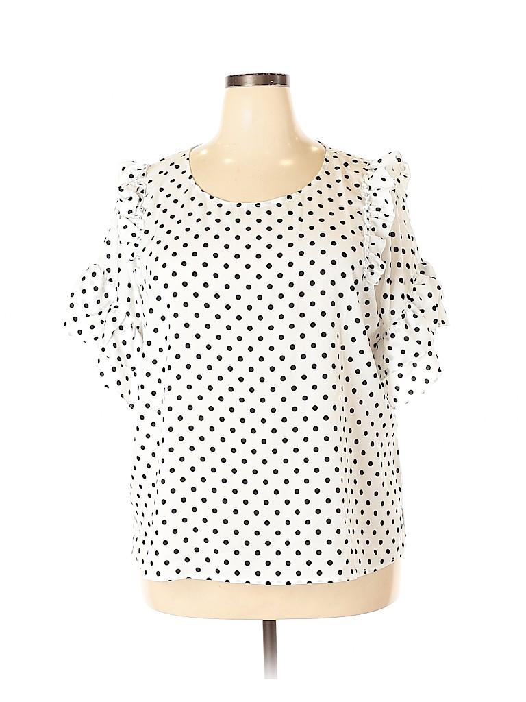ELOQUII Women 3/4 Sleeve Blouse Size 20 (Plus)