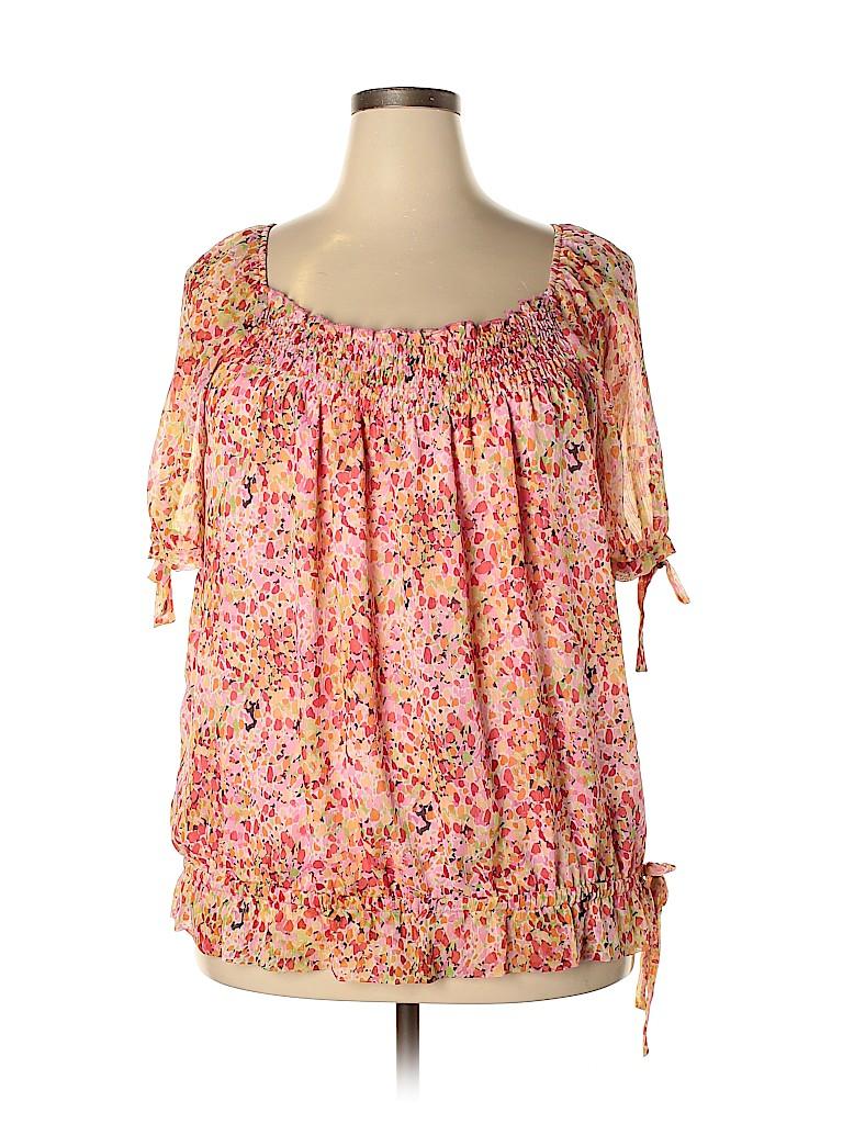 DressBarn Women Short Sleeve Blouse Size XL