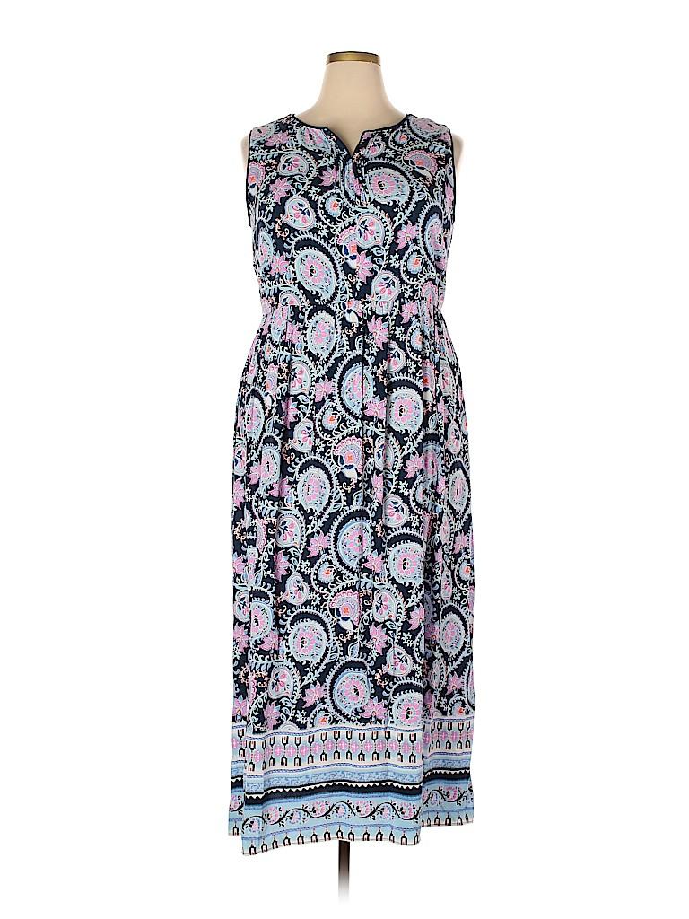 Talbots Women Casual Dress Size 18 (Plus)