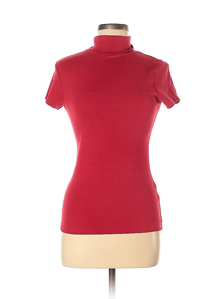 Zara Basic Women Short Sleeve Turtleneck Size M