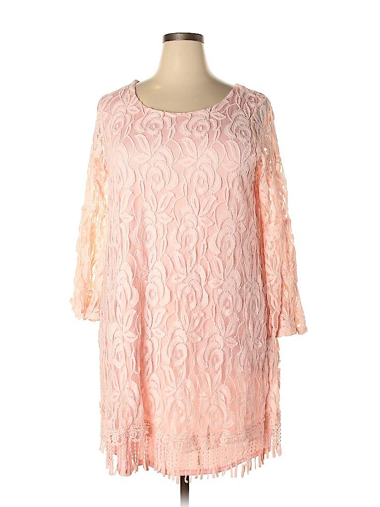 ING Women Casual Dress Size 1X (Plus)