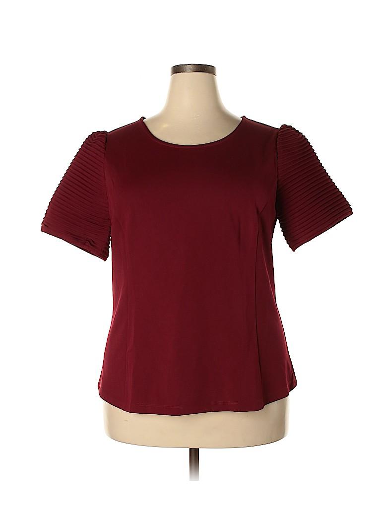 Monroe and Main Women Short Sleeve Blouse Size 1X (Plus)