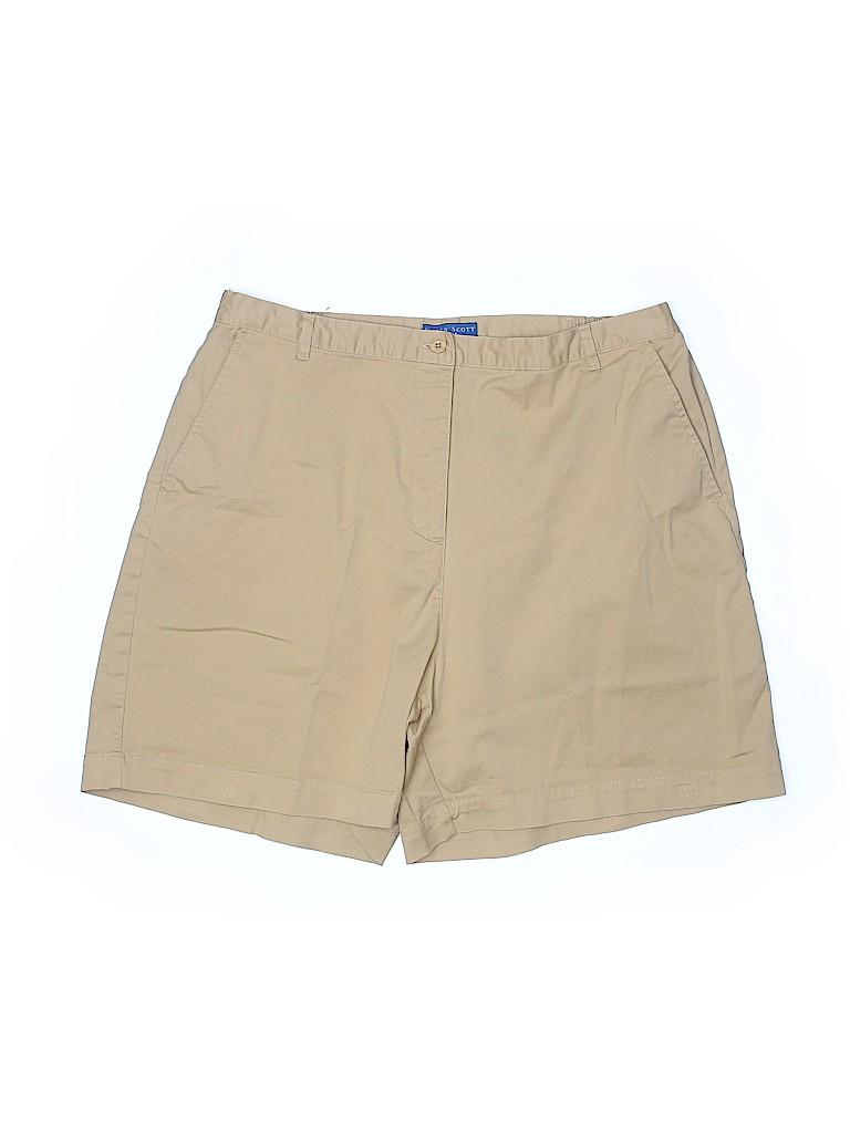 Karen Scott Sport Women Khaki Shorts Size 18 (Plus)