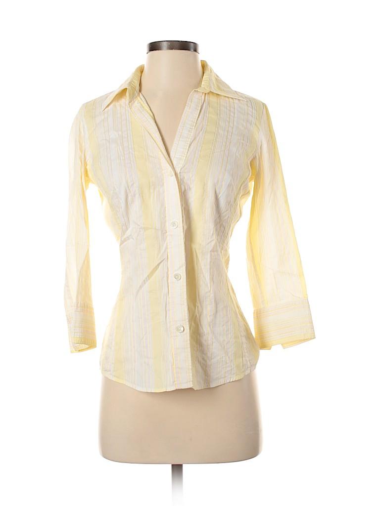 Banana Republic Women 3/4 Sleeve Button-Down Shirt Size S