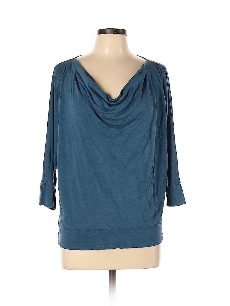 Eileen Fisher Women 3/4 Sleeve Silk Top Size L