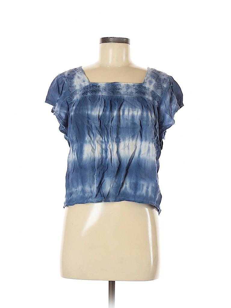 Hollister Women Short Sleeve Blouse Size M