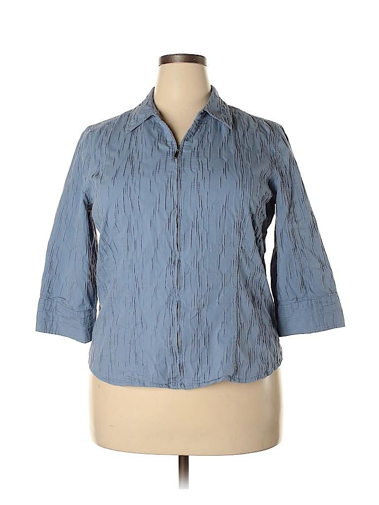 Christopher & Banks Women 3/4 Sleeve Blouse Size XL