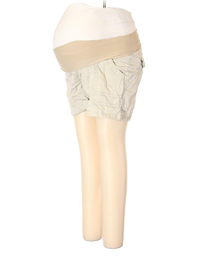 Oh Baby By Motherhood Women Khaki Shorts Size L (Maternity)