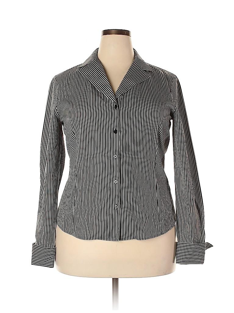Lafayette 148 New York Women Long Sleeve Blouse Size 16