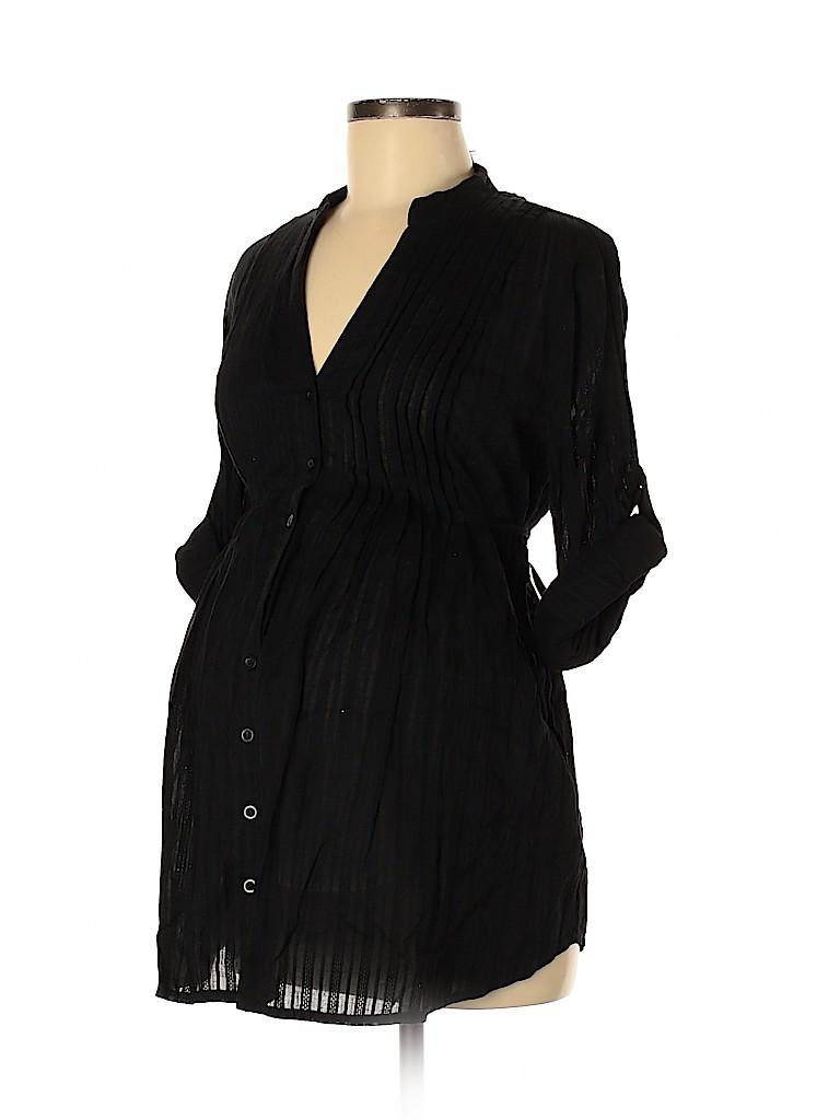 Motherhood Women Long Sleeve Button-Down Shirt Size M (Maternity)