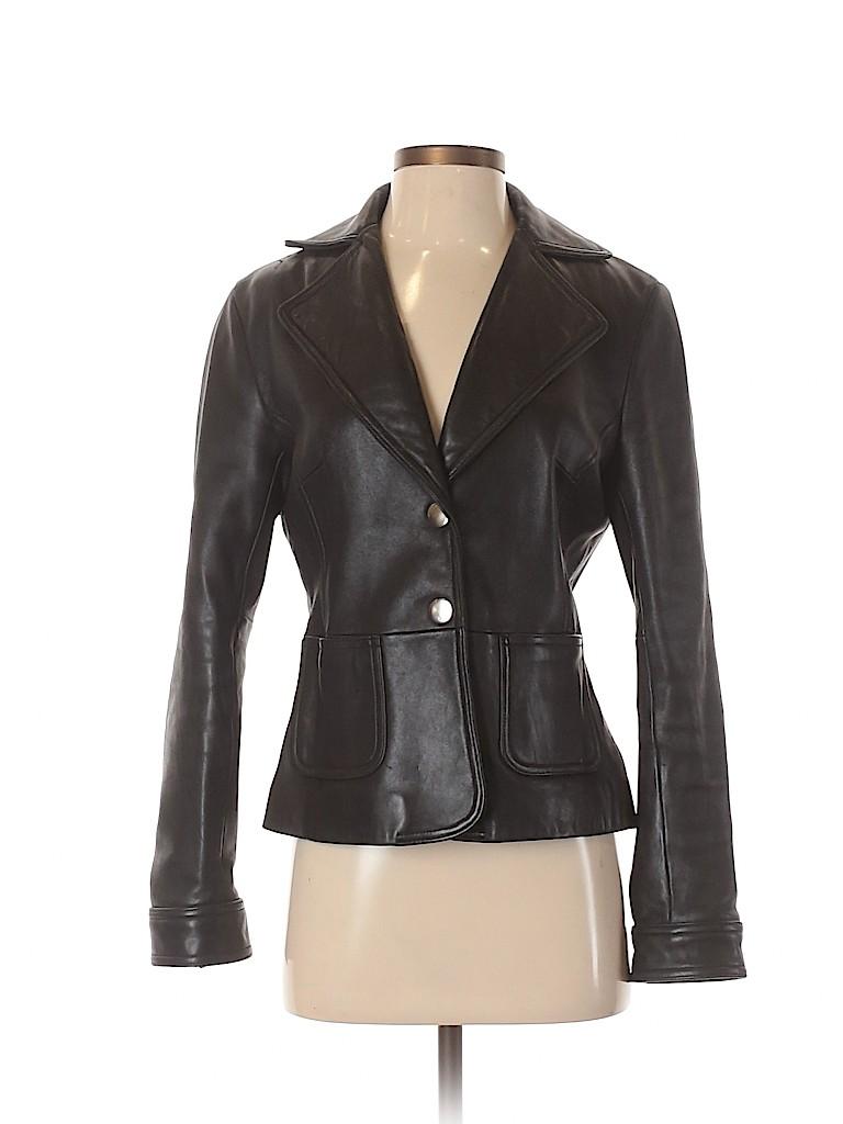 Mossimo Women Leather Jacket Size S