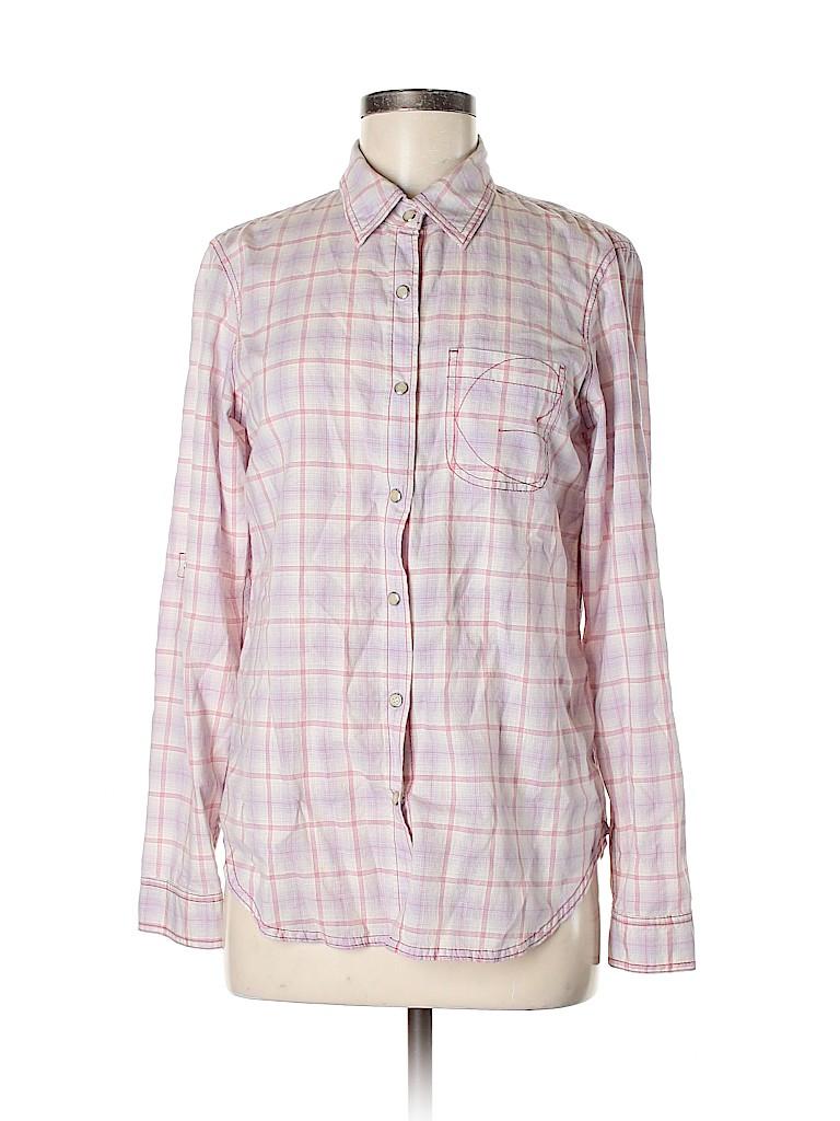 Generra Women Long Sleeve Button-Down Shirt Size S