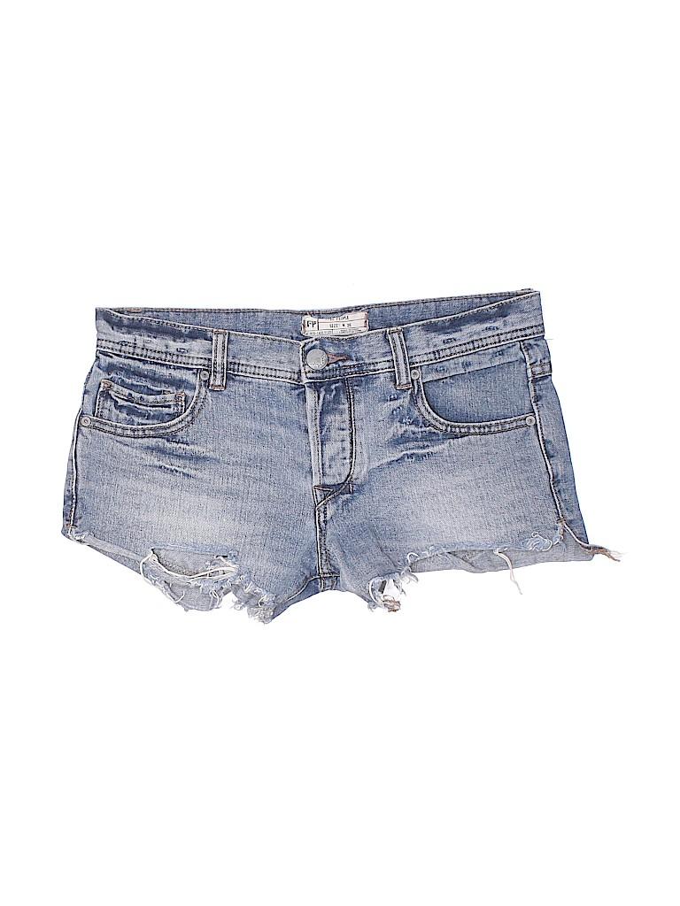 Free People Women Denim Shorts Size 26 (Plus)
