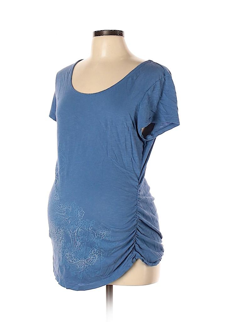 Oh Baby By Motherhood Women Short Sleeve T-Shirt Size L (Maternity)
