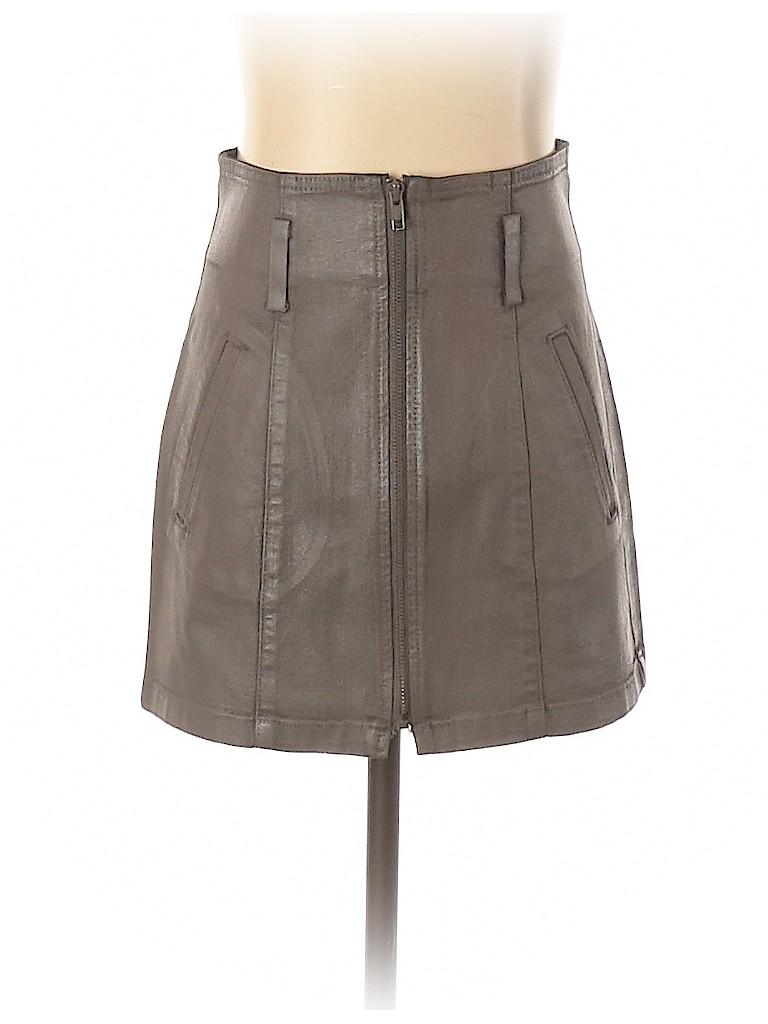 Carmar Women Faux Leather Skirt 23 Waist