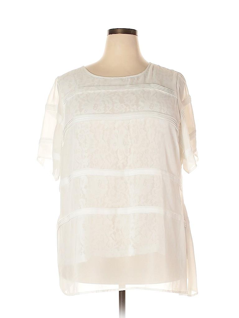 City Chic Women Short Sleeve Blouse Size 22 Plus (XL) (Plus)