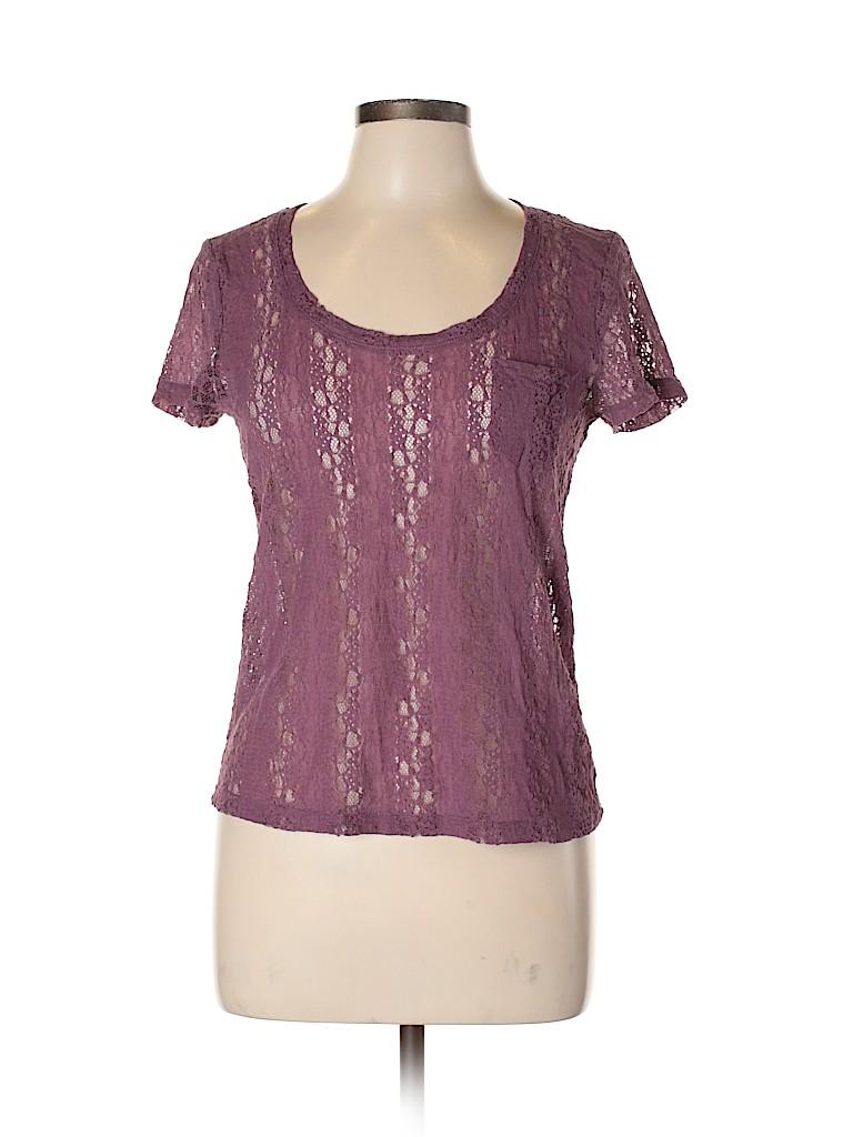 Frenchi Women Short Sleeve Top Size M