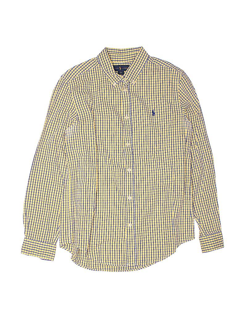 Ralph Lauren Boys Long Sleeve Button-Down Shirt Size 18 - 20