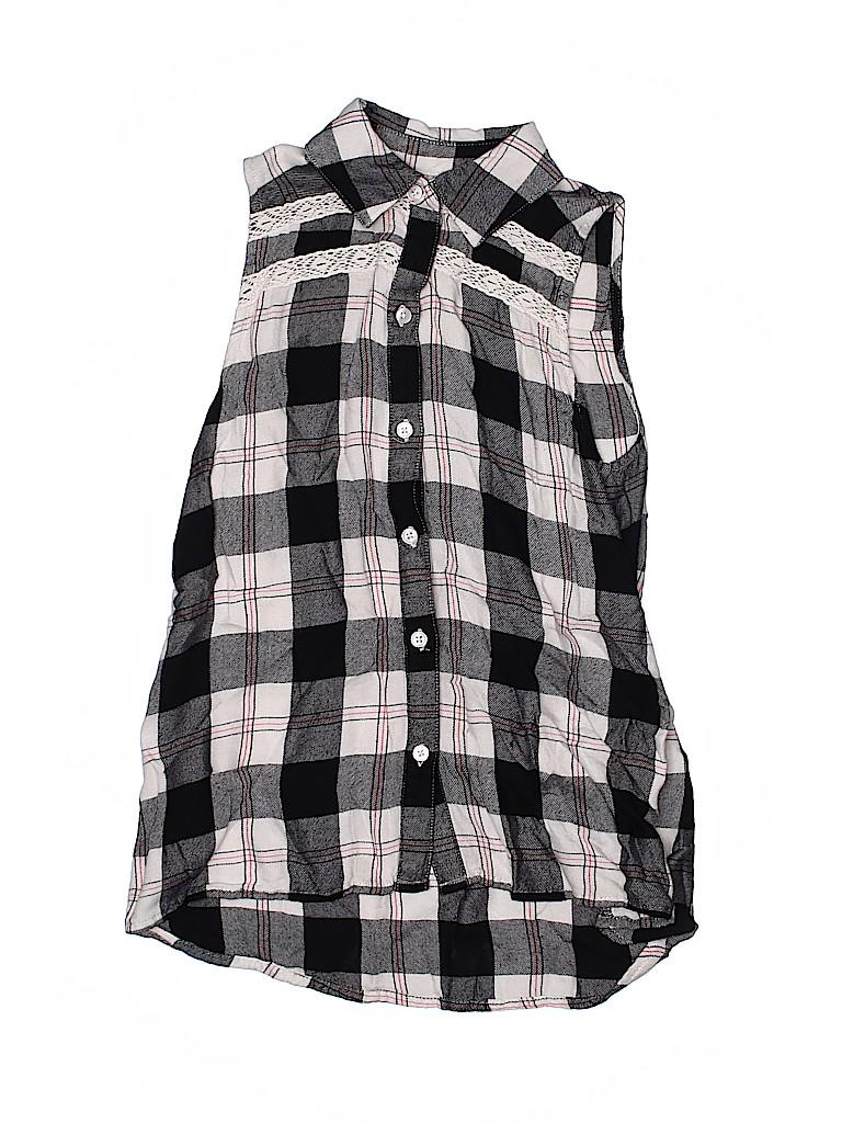 Mudd Girls Girls Sleeveless Button-Down Shirt Size 7 - 8