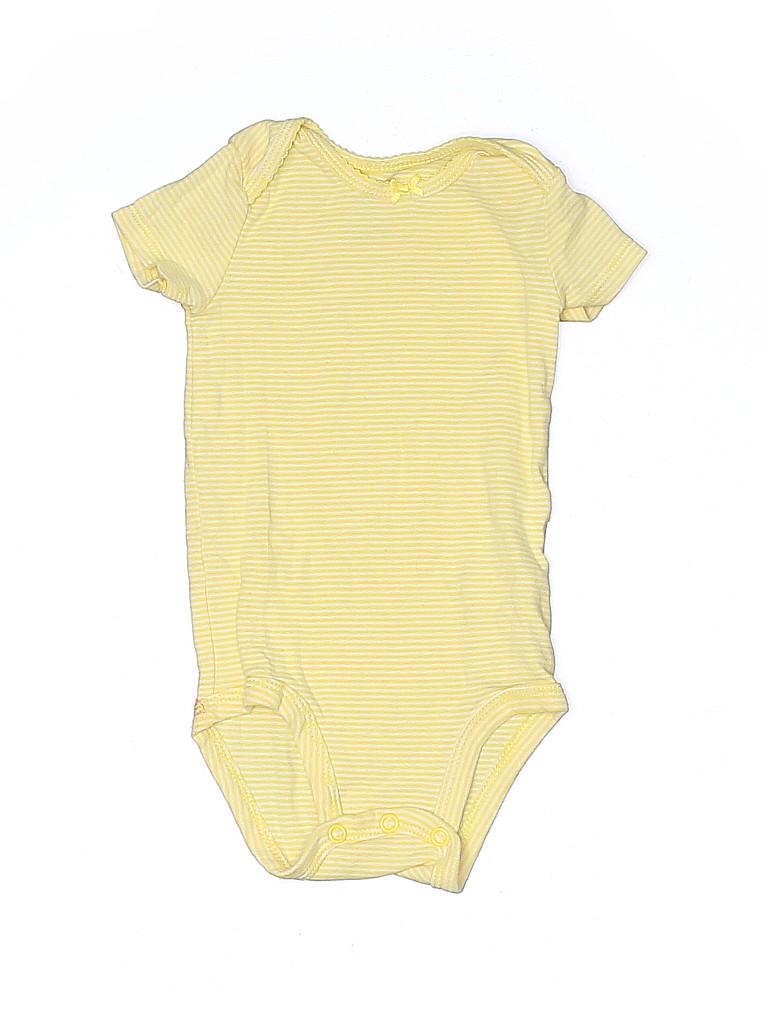 Carter's Girls Short Sleeve Onesie Size 6 mo