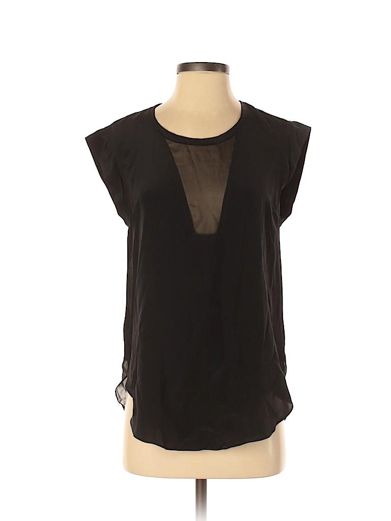 Patterson J. Kincaid Women Short Sleeve Silk Top Size S