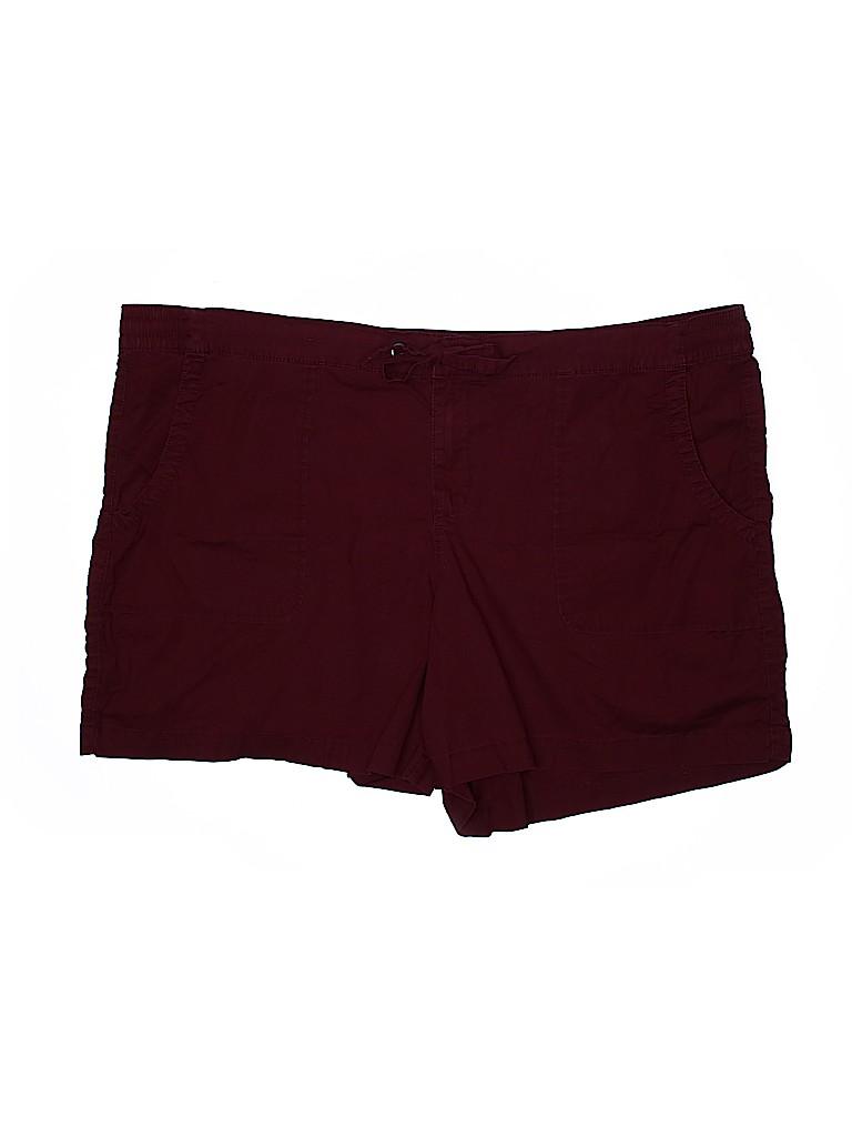 Boutique + Women Khaki Shorts Size 20W Plus (Plus)