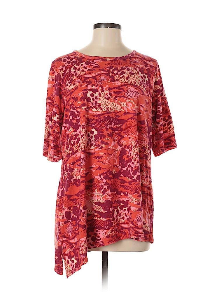 LOGO by Lori Goldstein Women Short Sleeve T-Shirt Size M