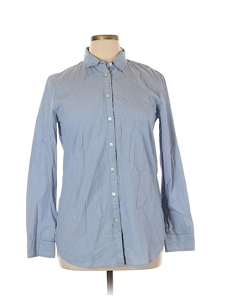 Banana Republic Women Long Sleeve Button-Down Shirt Size L
