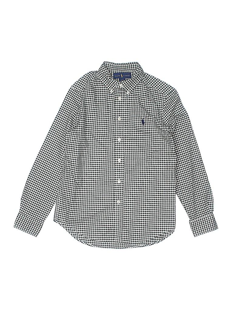 Ralph by Ralph Lauren Boys Long Sleeve Button-Down Shirt Size M (Kids)