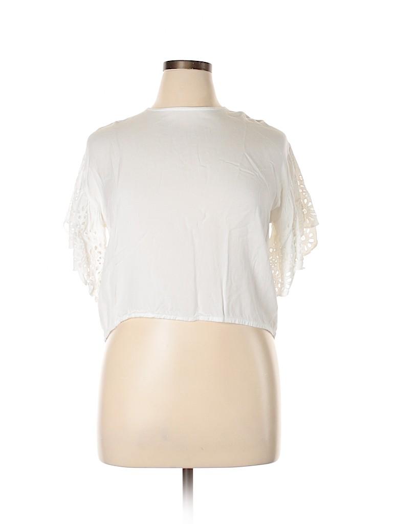 Style Envy Women Short Sleeve Top Size L