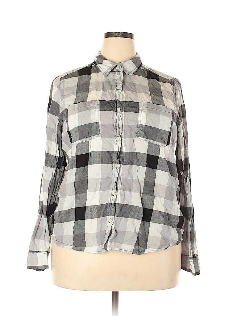 Universal Thread Women Long Sleeve Button-Down Shirt Size XXL