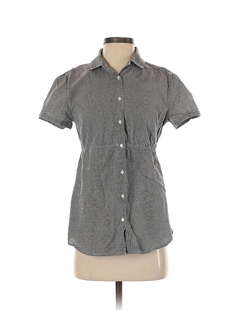 J. Crew Women Short Sleeve Button-Down Shirt Size S
