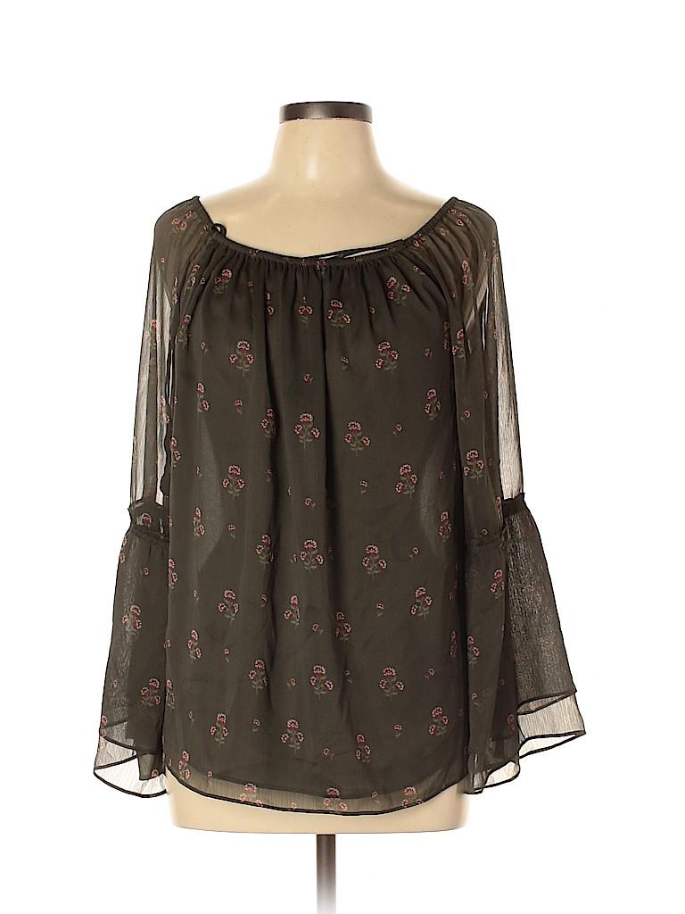 White House Black Market Women 3/4 Sleeve Blouse Size L