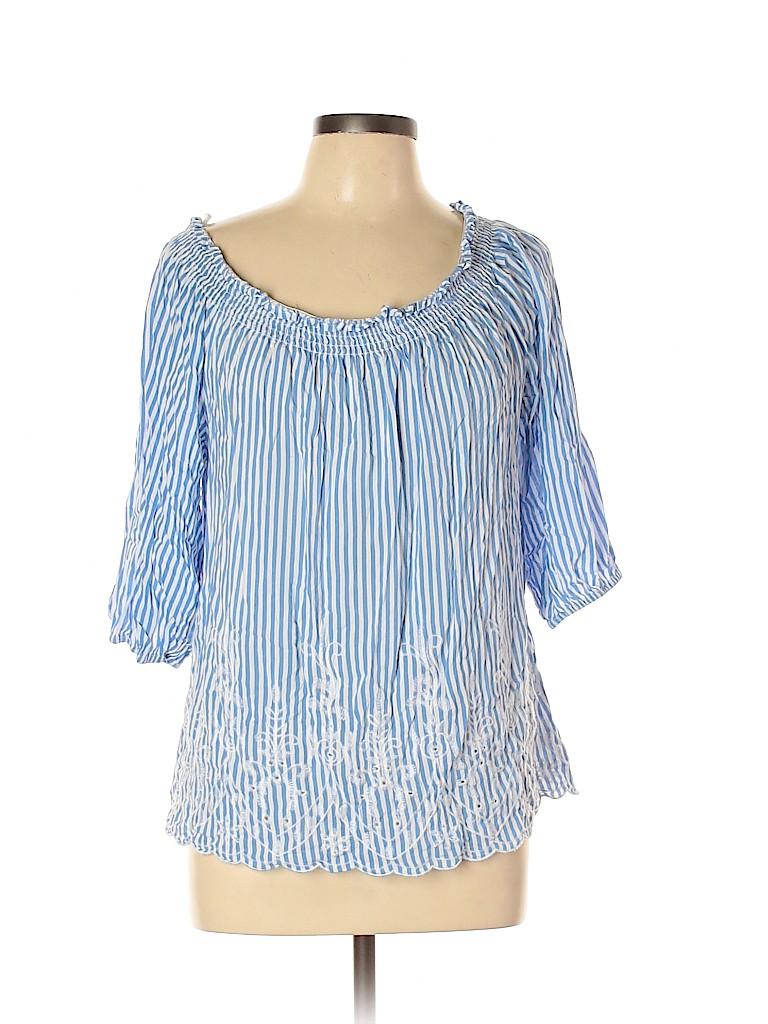 Saint Tropez West Women Short Sleeve Blouse Size XL