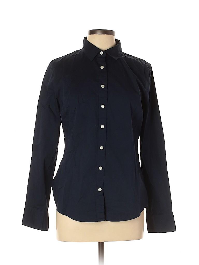 J. Crew Factory Store Women Long Sleeve Button-Down Shirt Size L