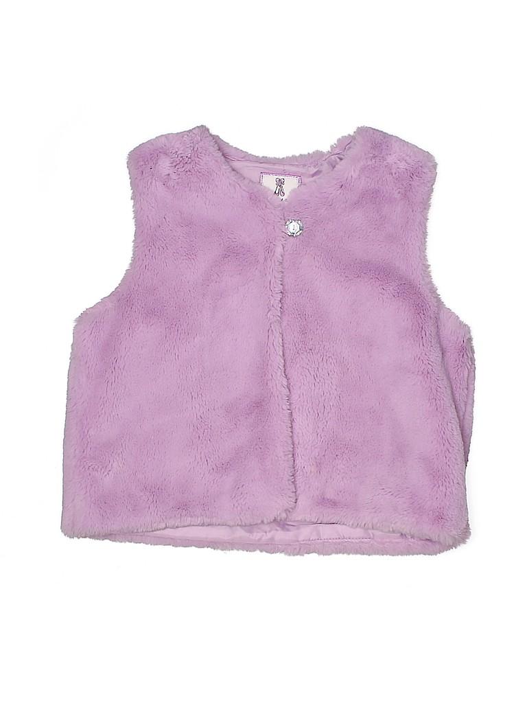 Gymboree Girls Faux Fur Vest Size L (Kids)
