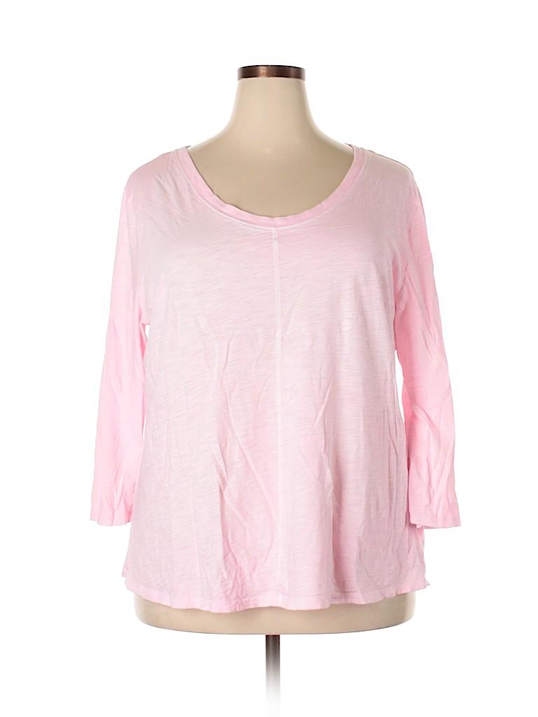 Gap Outlet Women 3/4 Sleeve T-Shirt Size XXL