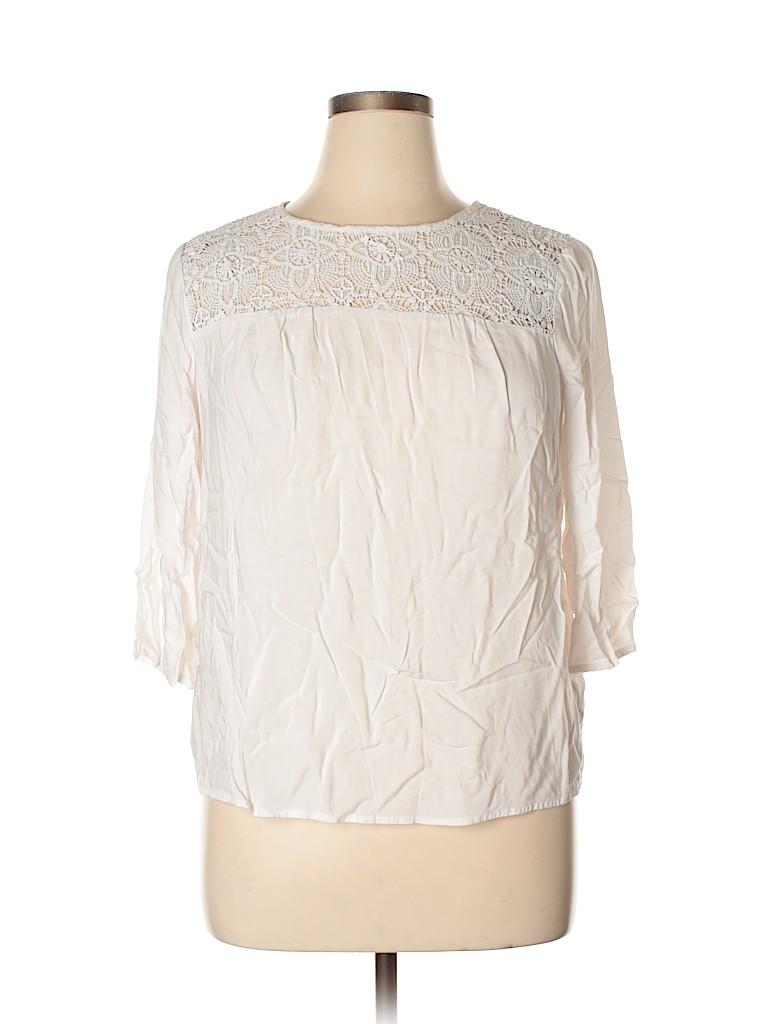 Old Navy Women 3/4 Sleeve Blouse Size L