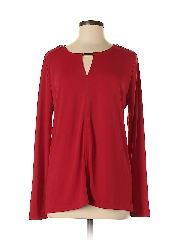 Ann Taylor Women Long Sleeve Top Size L