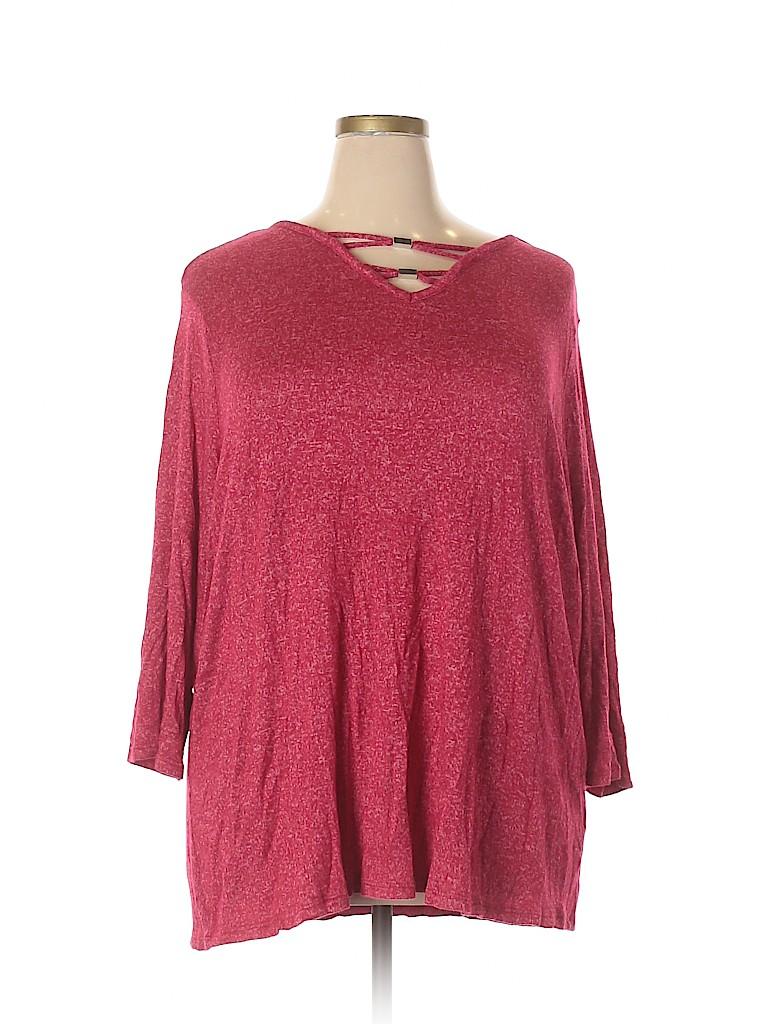 Avenue Women Long Sleeve Top Size 26 - 28 Plus (Plus)
