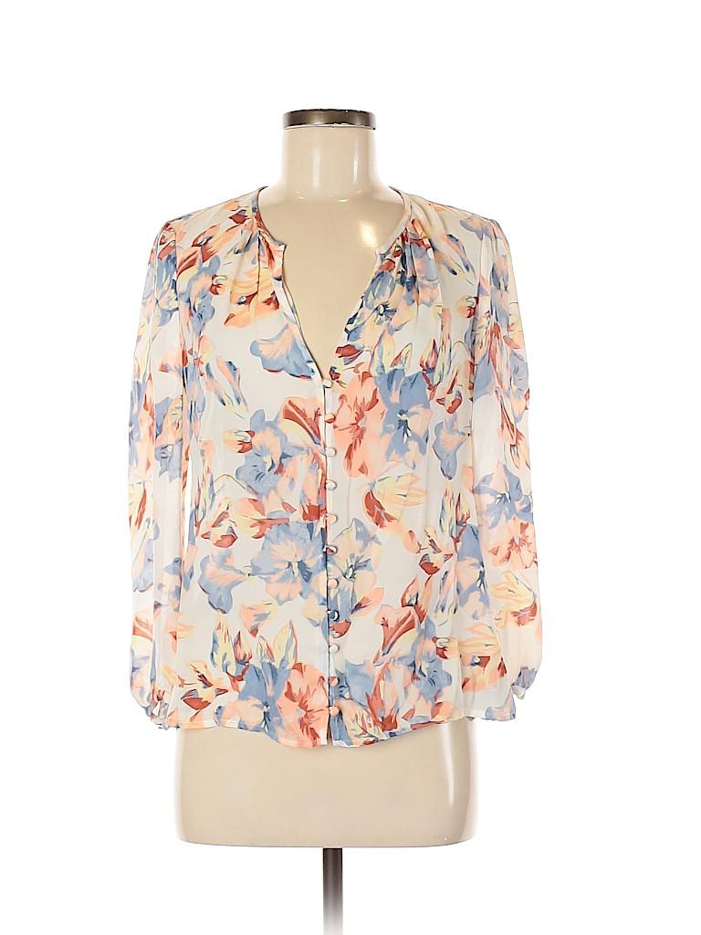 Joie Women Long Sleeve Silk Top Size XXS