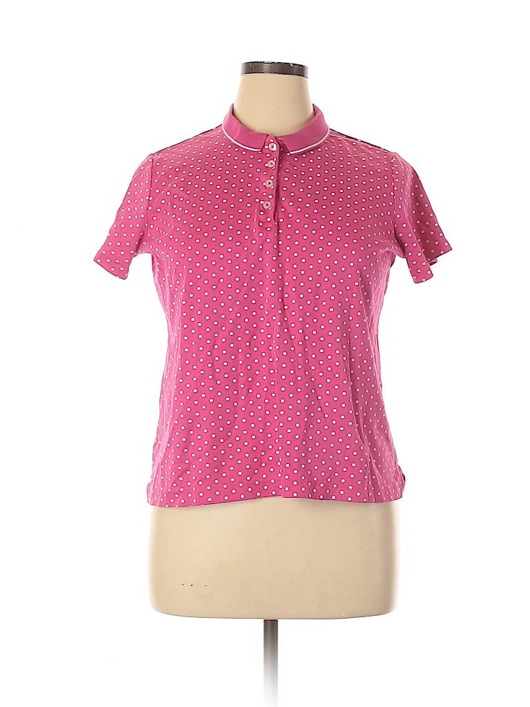 Lands' End Women Short Sleeve Polo Size XL